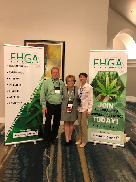 Florida Public Utilities employees at the Florida Industrial Hemp Conference