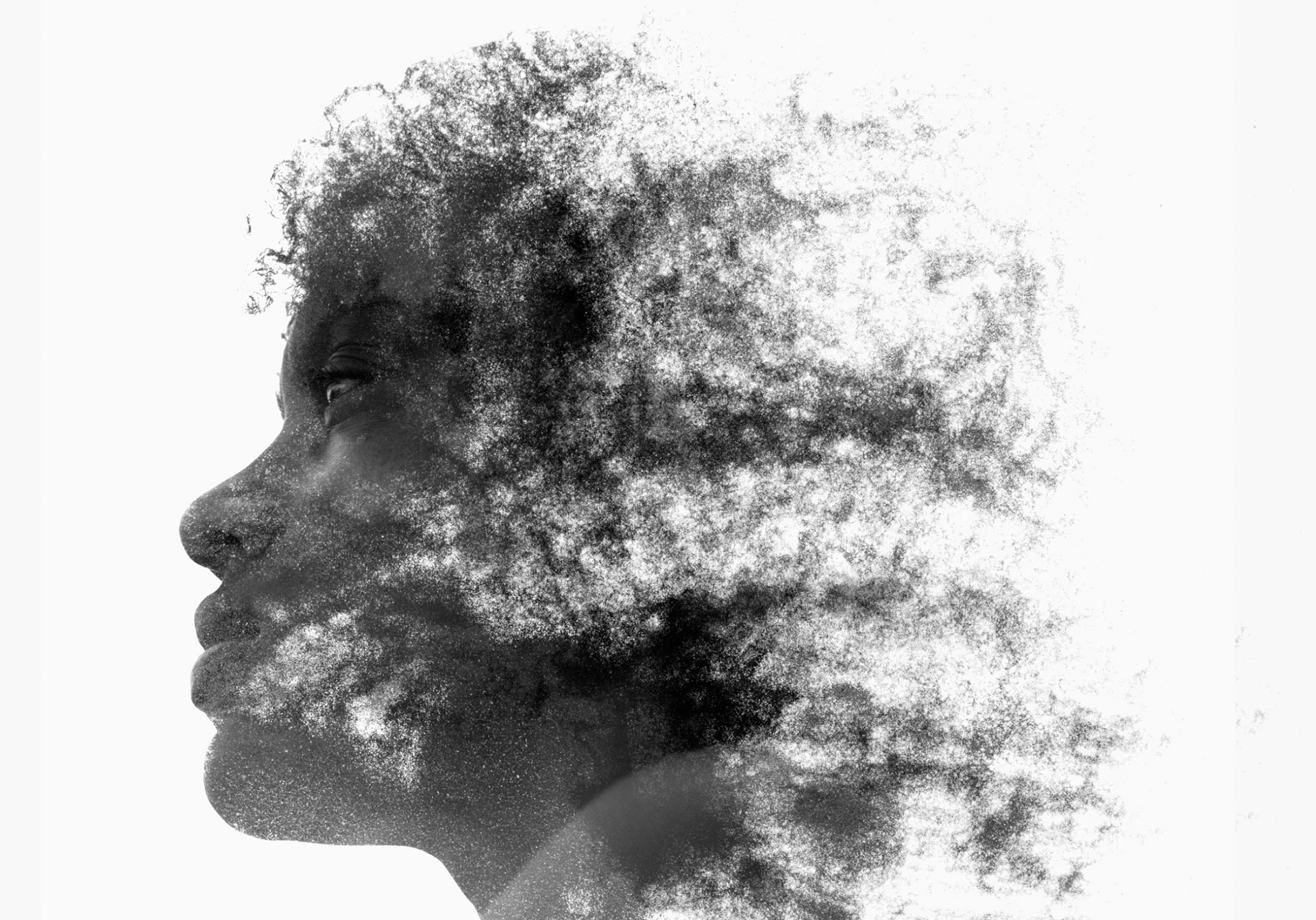Charcoal Drawing of Black Woman