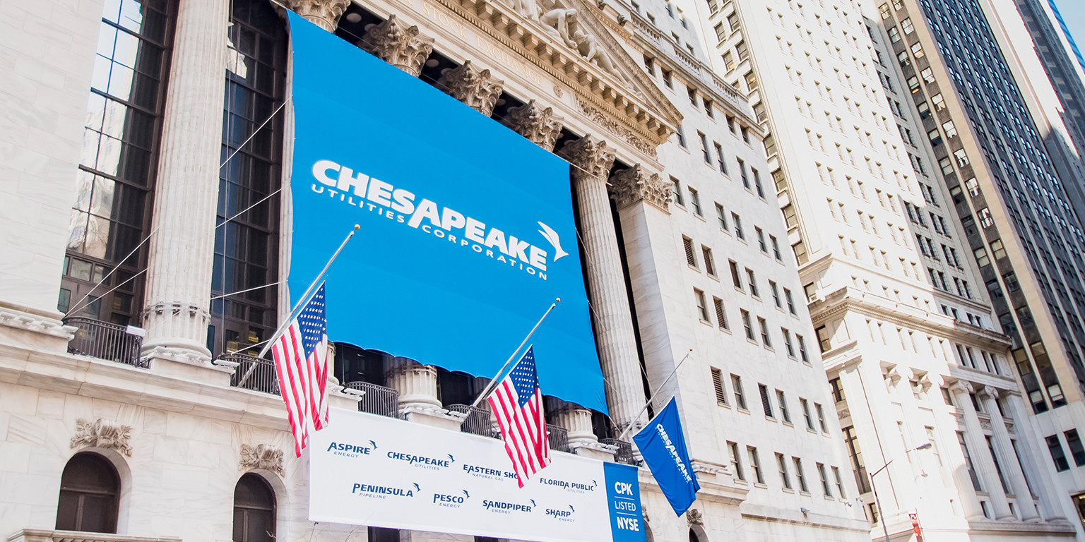 NYSE: CPK - Banner at the NYSE for Chesapeake Utilities Corporation